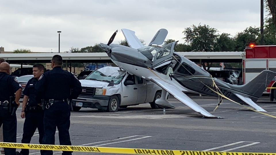 Video Pilot Passenger Okay After Plane Crashes Into Claydesta Parking Lot