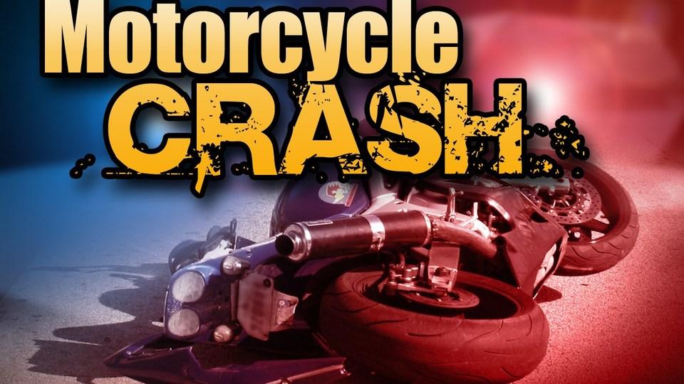 Three injured in crash involving motorcycle