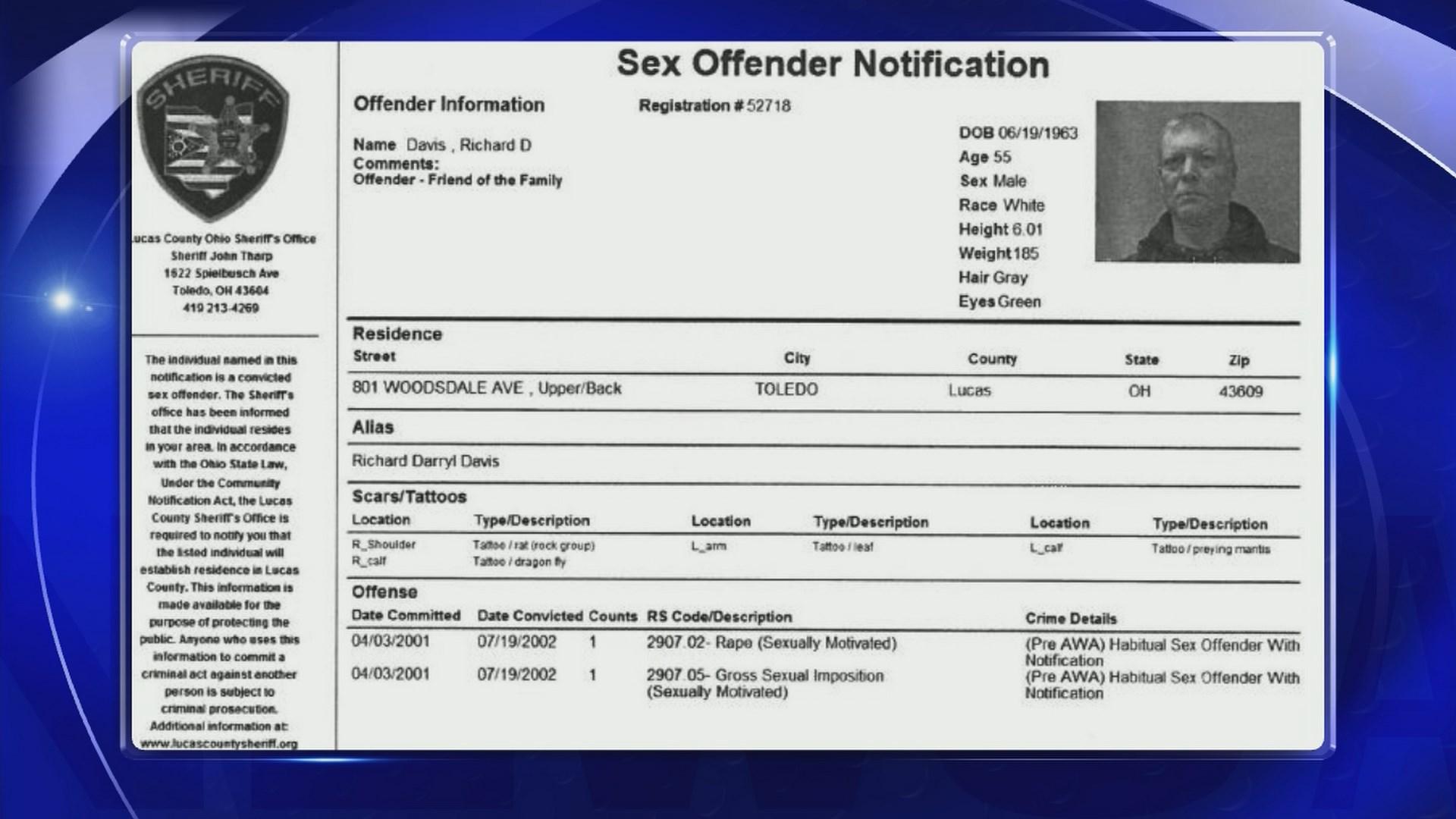 Toledo ohio sex offender search