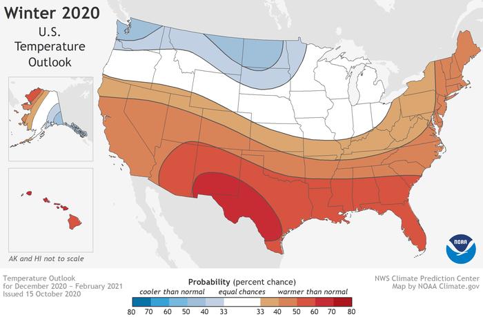 noaa releases its updated 2020 21 winter outlook updated 2020 21 winter outlook