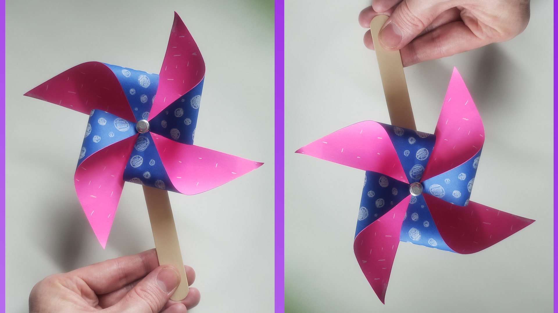 Family craft time How to make a Paper Pinwheel