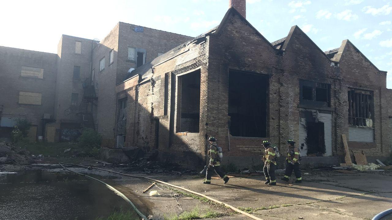 Firefighters Battle Major Fire At Old Fond Du Lac Casket Company Building