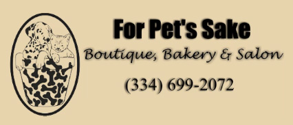 For Pet's Sake Boutique, Bakery & Salon (334) 699-2072