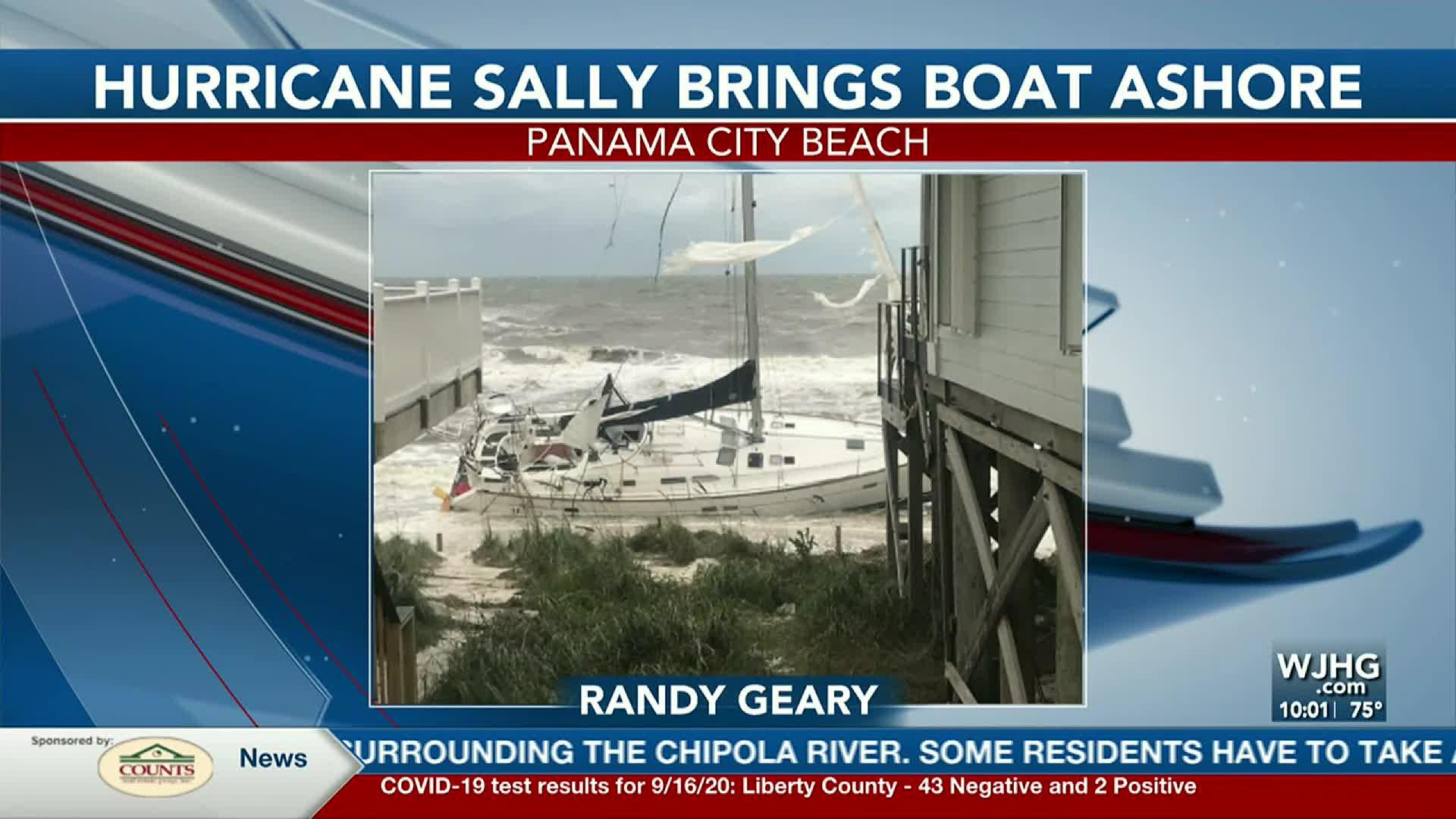 sailboat washes ashore in panama city beach sailboat washes ashore in panama city beach