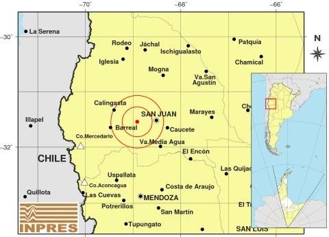 Sismo de 5,1 en San Juan, a las 23.20 del miércoles -
