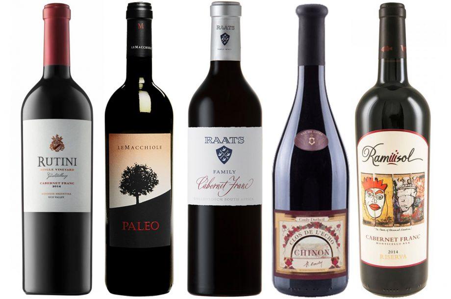 Cinco de las diez etiquetas mundiales de cabernet franc elogiadas por Decanter.