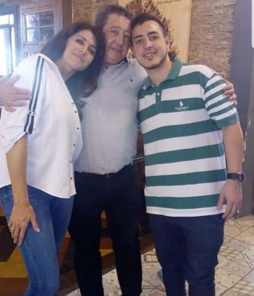 Pamela David junto a su padre y su hermano fallecido, Franco.