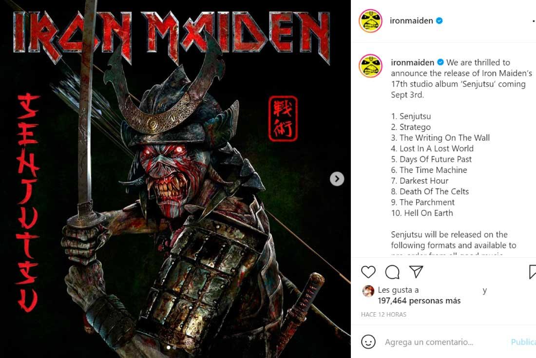 """Iron Maiden anunció su nuevo álbum, """"Senjutsu"""", y su fecha de lanzamiento    Música   La Voz del Interior"""