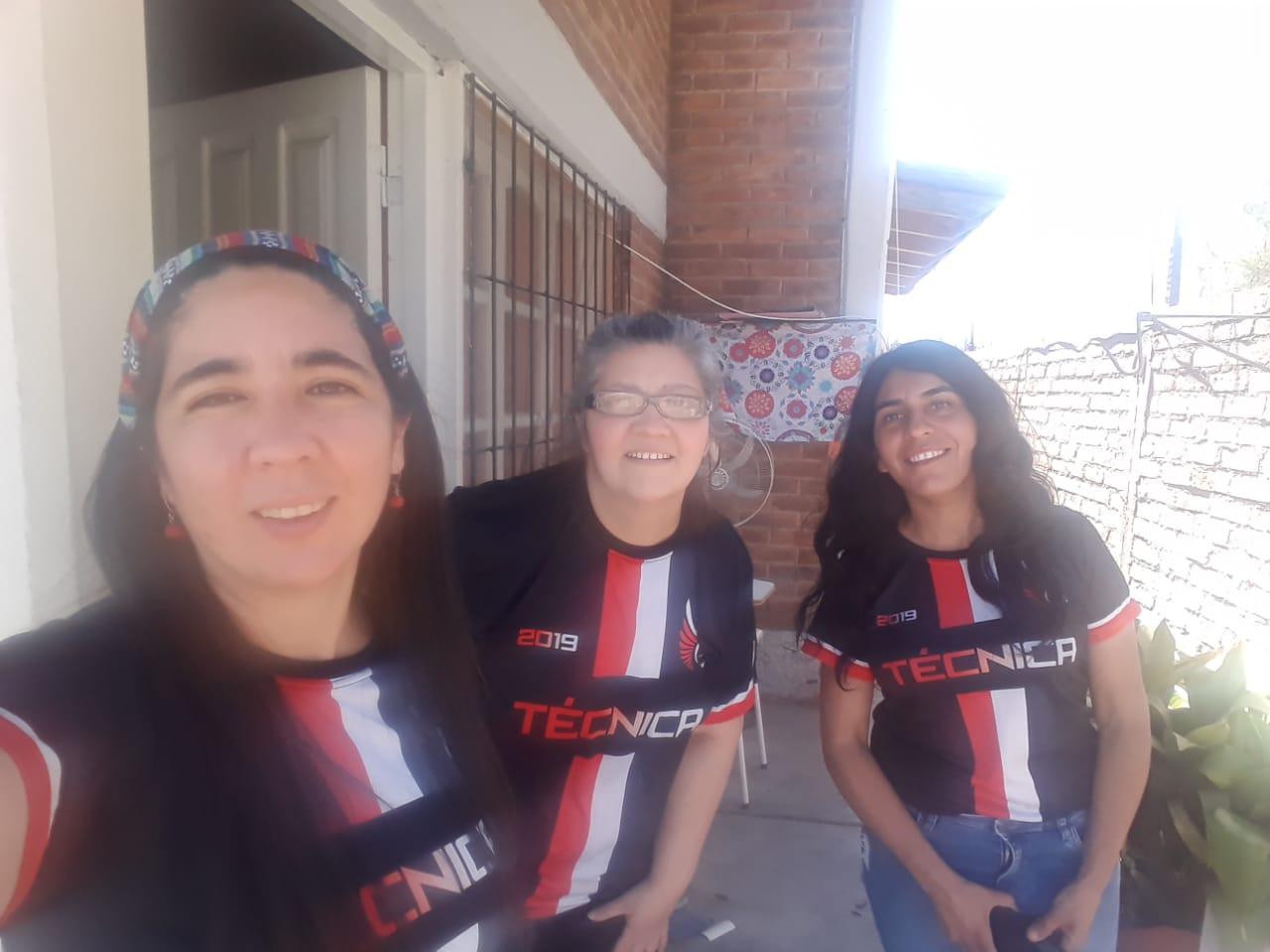 Marcela Maldonado, Verónica Coronel y María Adriazola