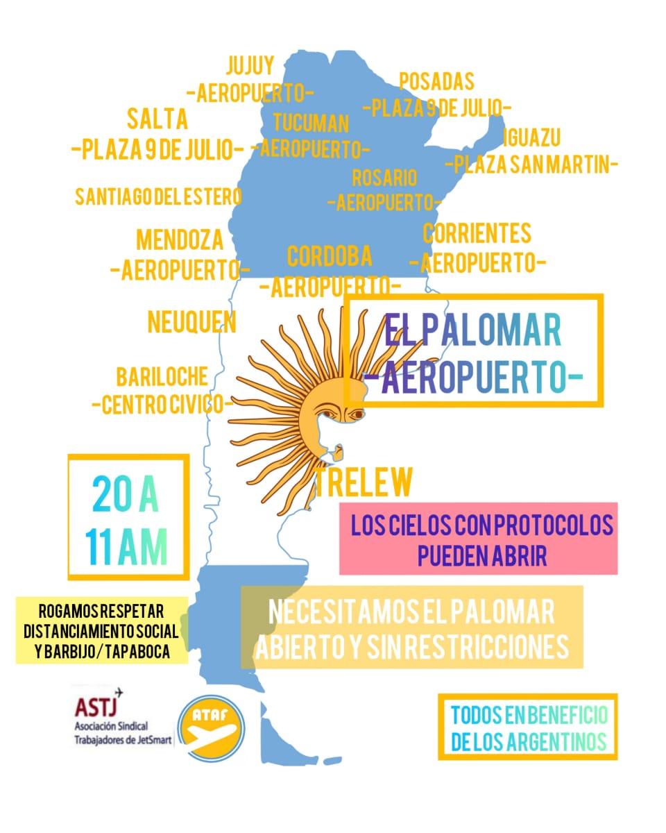Las manifestaciones fueron en 13 ciudades argentinas, en simultáneo,