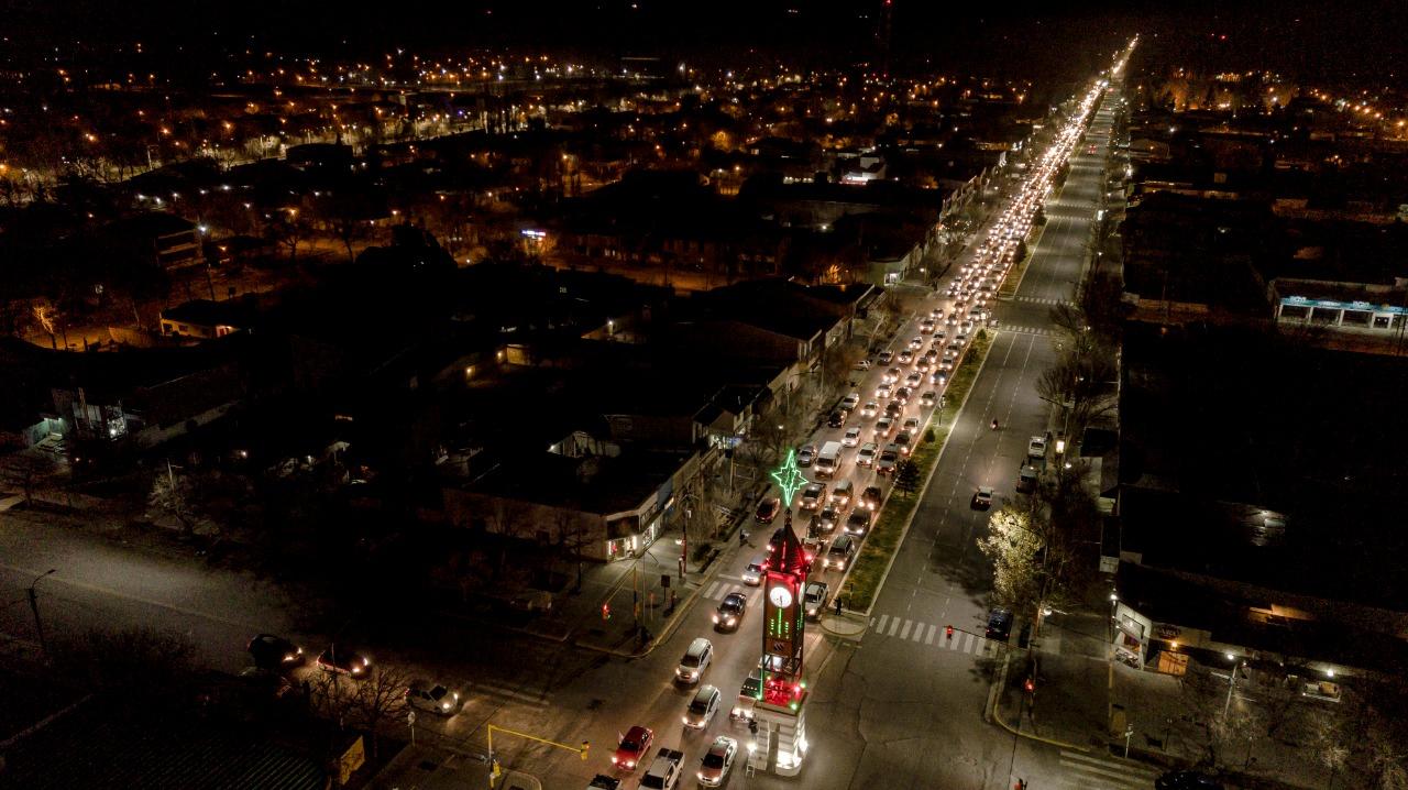 Desde Malargüe inició la caravana a favor de Portezuelo del Viento que luego se extendió a San Rafael y General Alvear