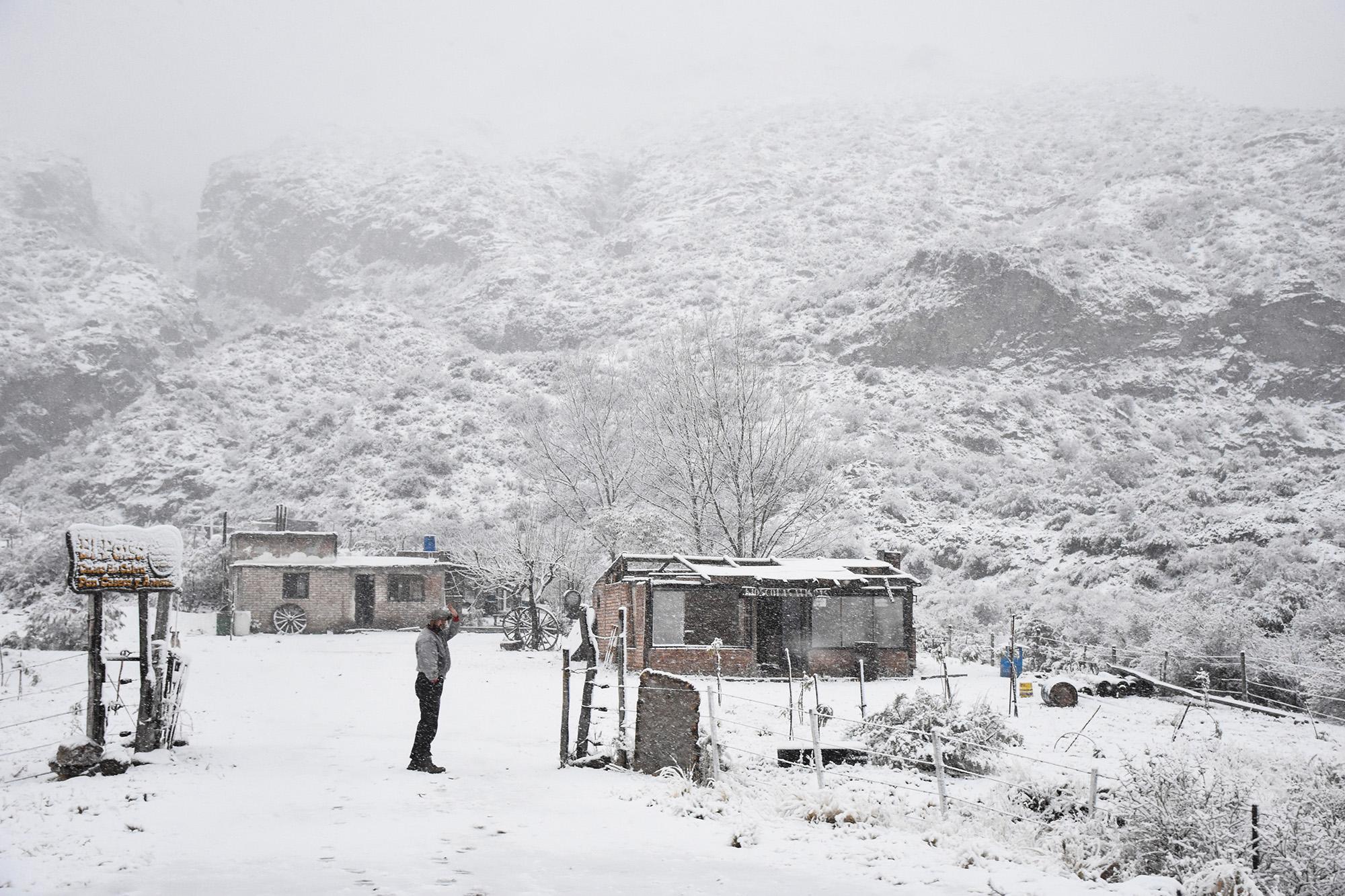 Primera nevada en Potrerillos