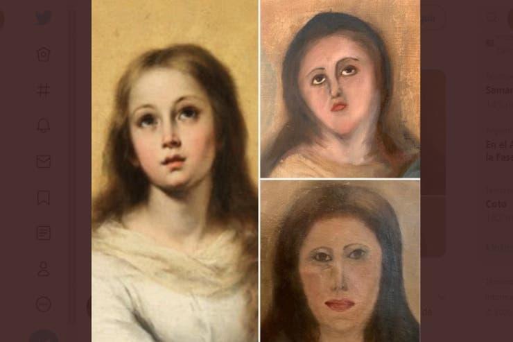 """El cuadro de """"Inmaculada concepción"""" de Murillo fue llevado a un restaurador que lo devolvió """"desfigurado""""."""