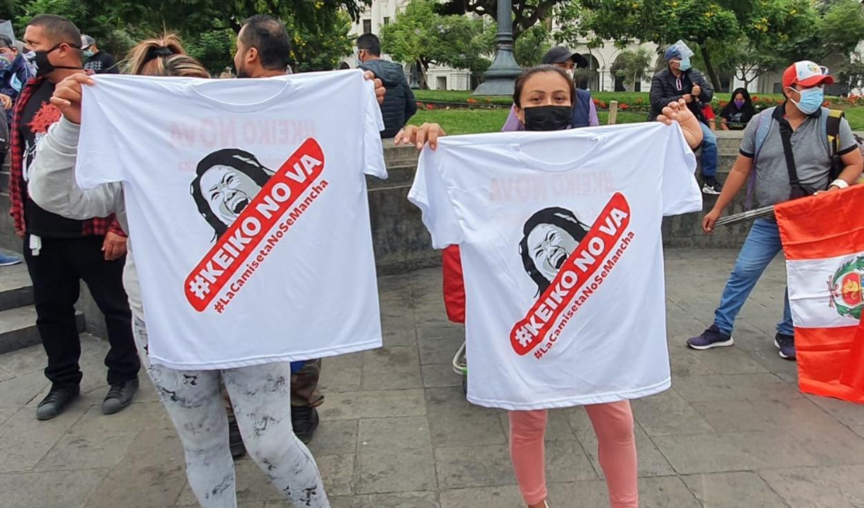 Concentración previa a la marcha Keiko no va de cara a la segunda vuelta de elecciones 2021.Foto: Raúl Egúsquiza/URPI-LR