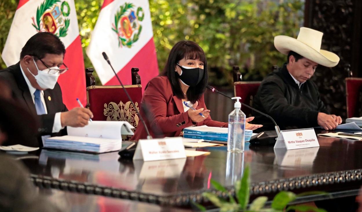 Primera conferencia de prensa del gabinete Vásquez será a las 5.00 p. m.