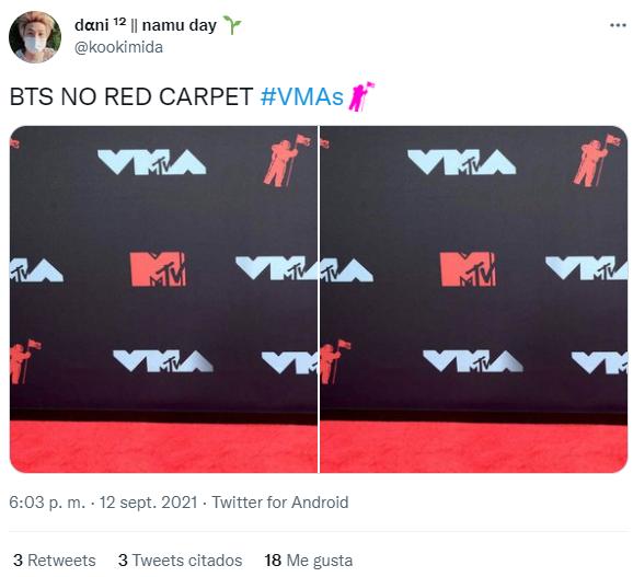 BTS, VMAs 2021, red carpet