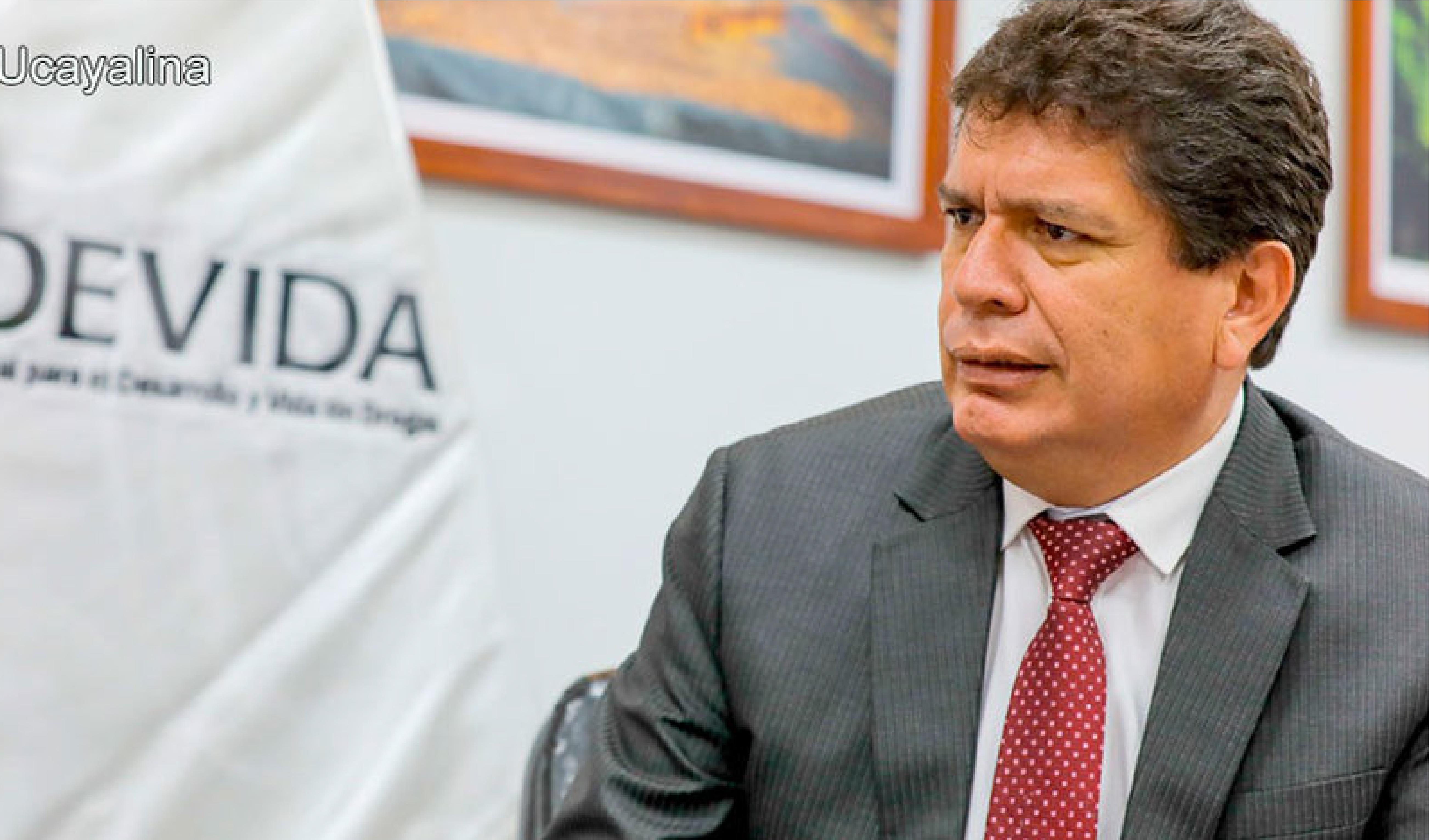 Presidente de Devida presentó carta de renuncia tras declaraciones de ministro Barranzuela