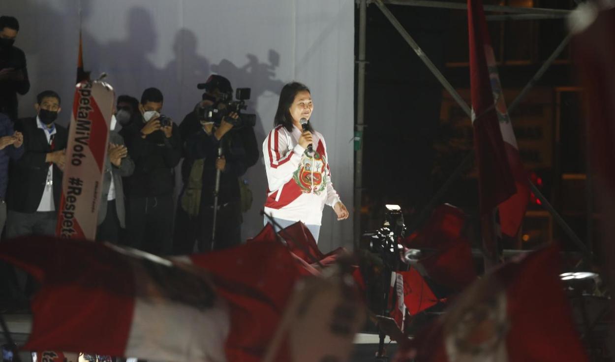 Mitin de Keiko Fujimori.