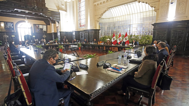 Presidente Pedro Castillo lidera nueva sesión del Consejo de Ministros