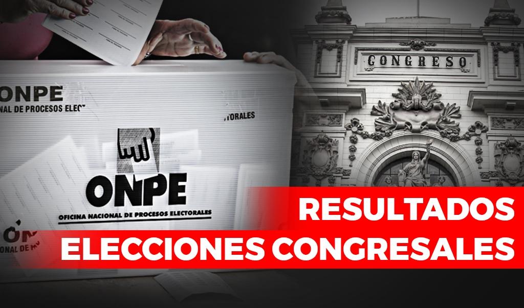 Resultados elecciones congresales