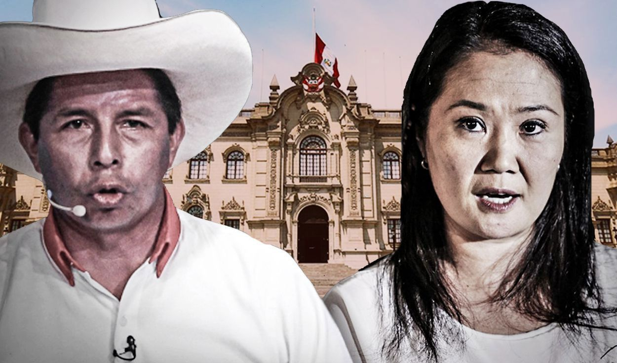 La distancia entre Pedro Castillo y Keiko Fujimori se ha acortado, según Datum. Foto: composición/La República