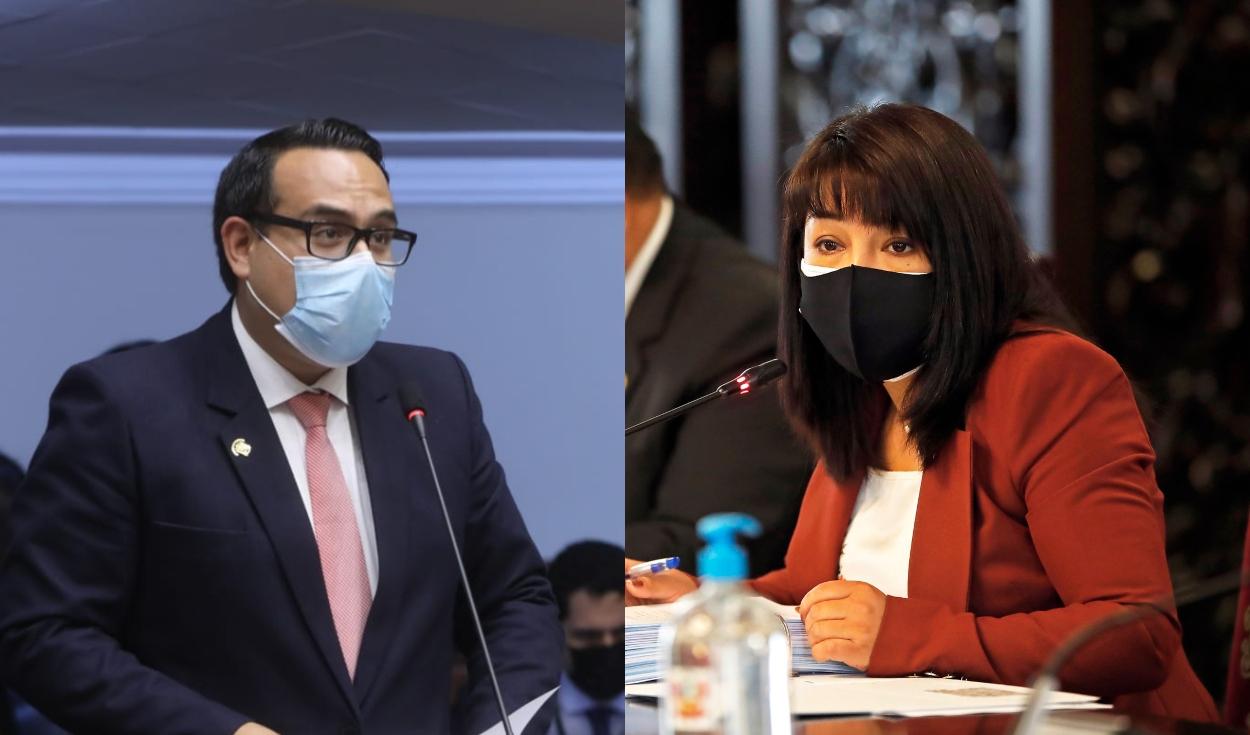 José Jerí y Mirtha Vásquez