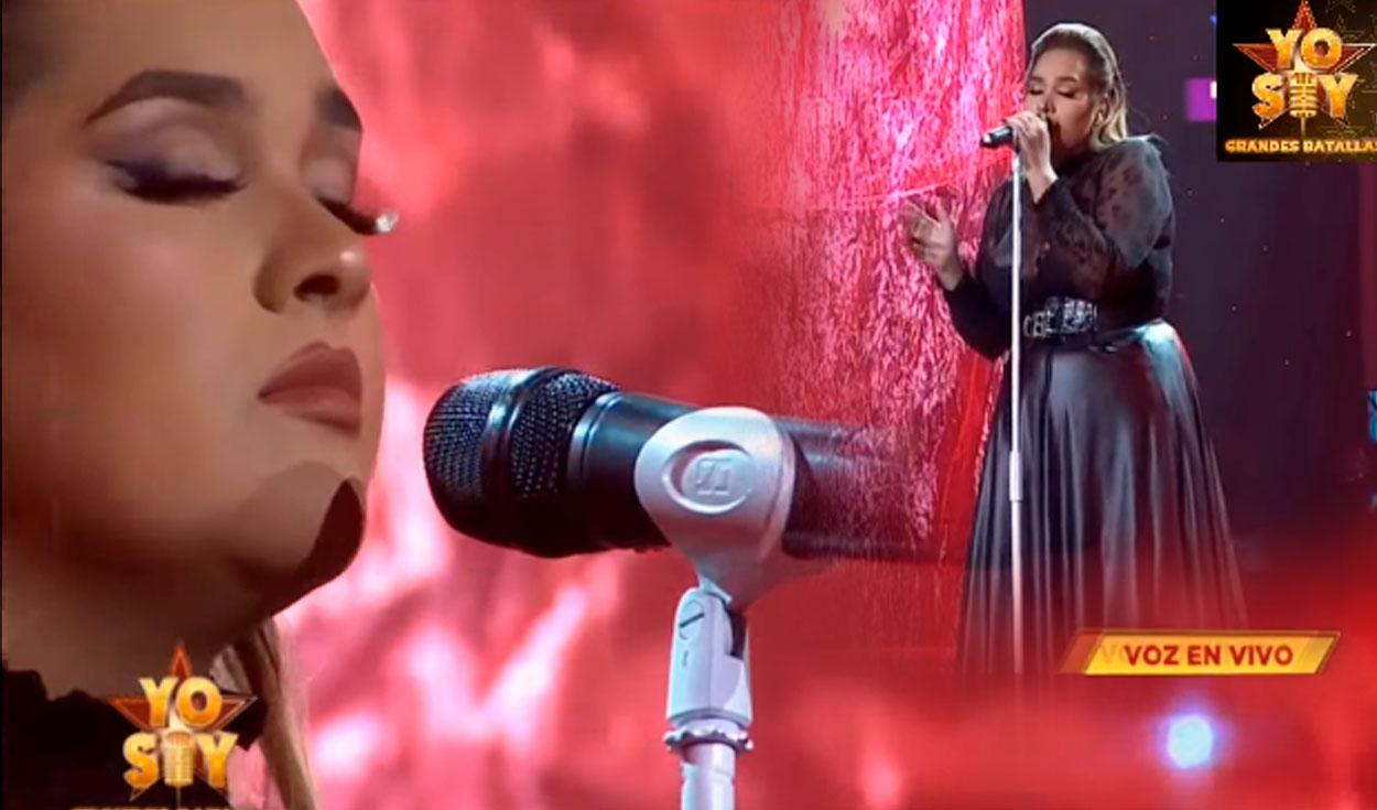 "'Adele' canta ""Make you feel my love"" Foto: captura Yo soy / Latina"