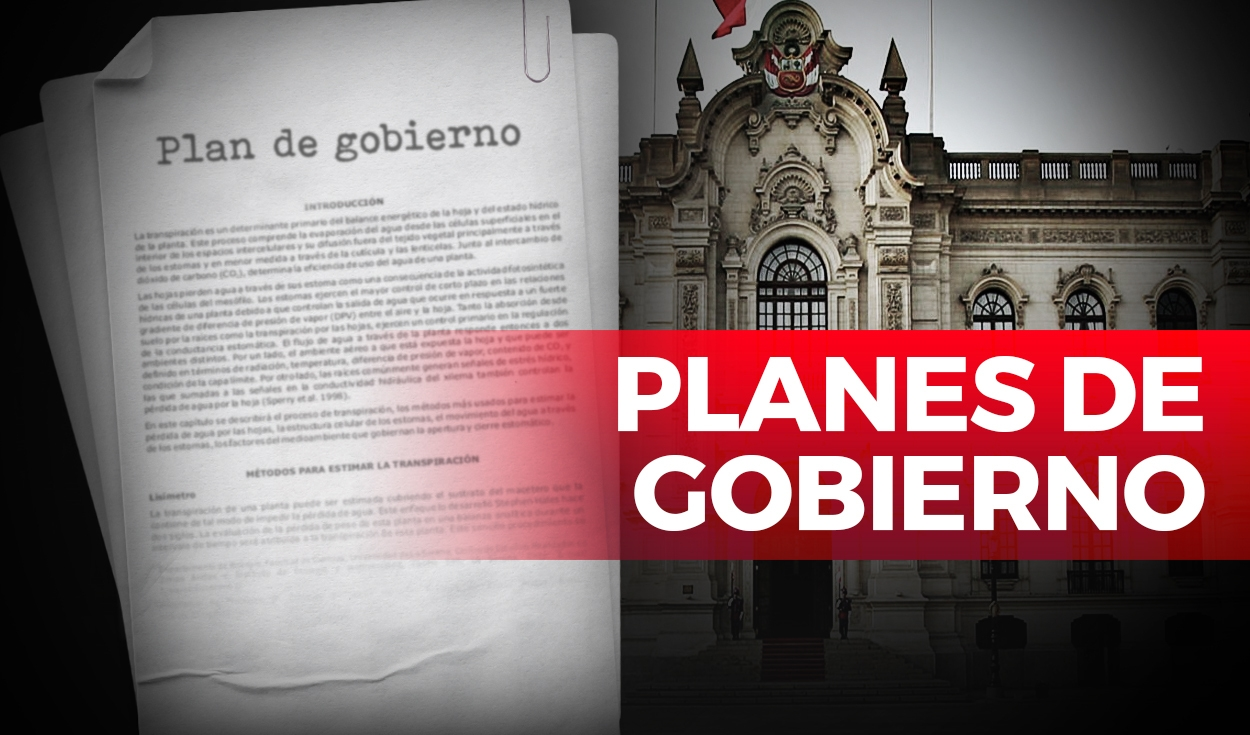 Planes de gobierno