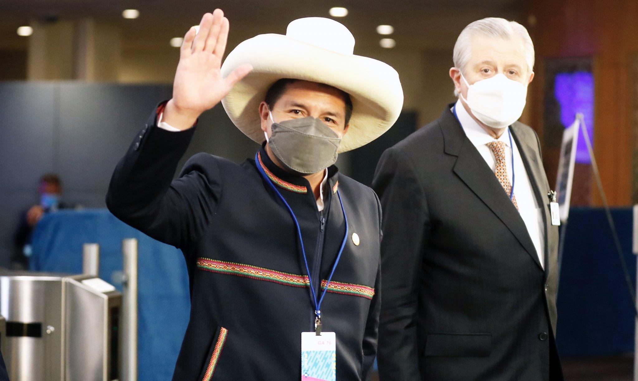 Castillo arrived at the UN headquarters in New York