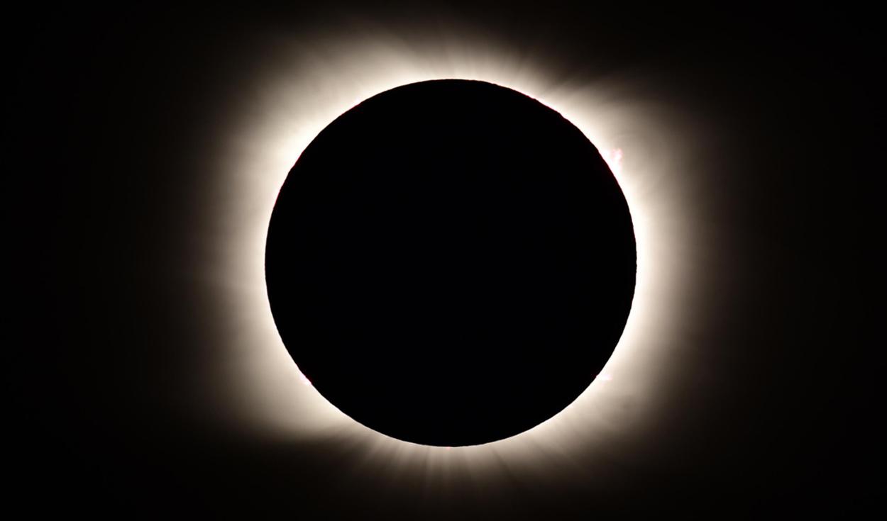 Argentina también presenció un eclipse solar total.