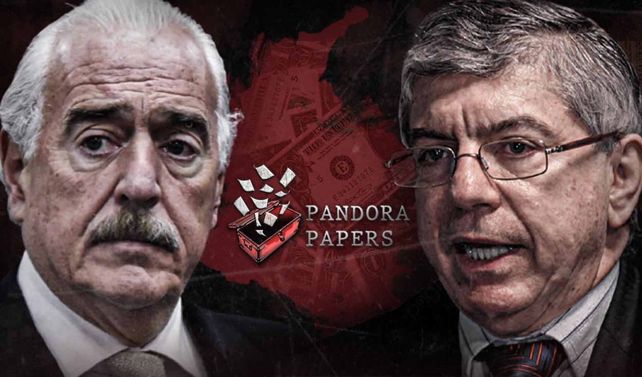 Andrés Pastrana y César Gaviria, dos expresidentes colombianos vinculados a los Pandora Papers. Foto: composición Jazmín Ceras/La República