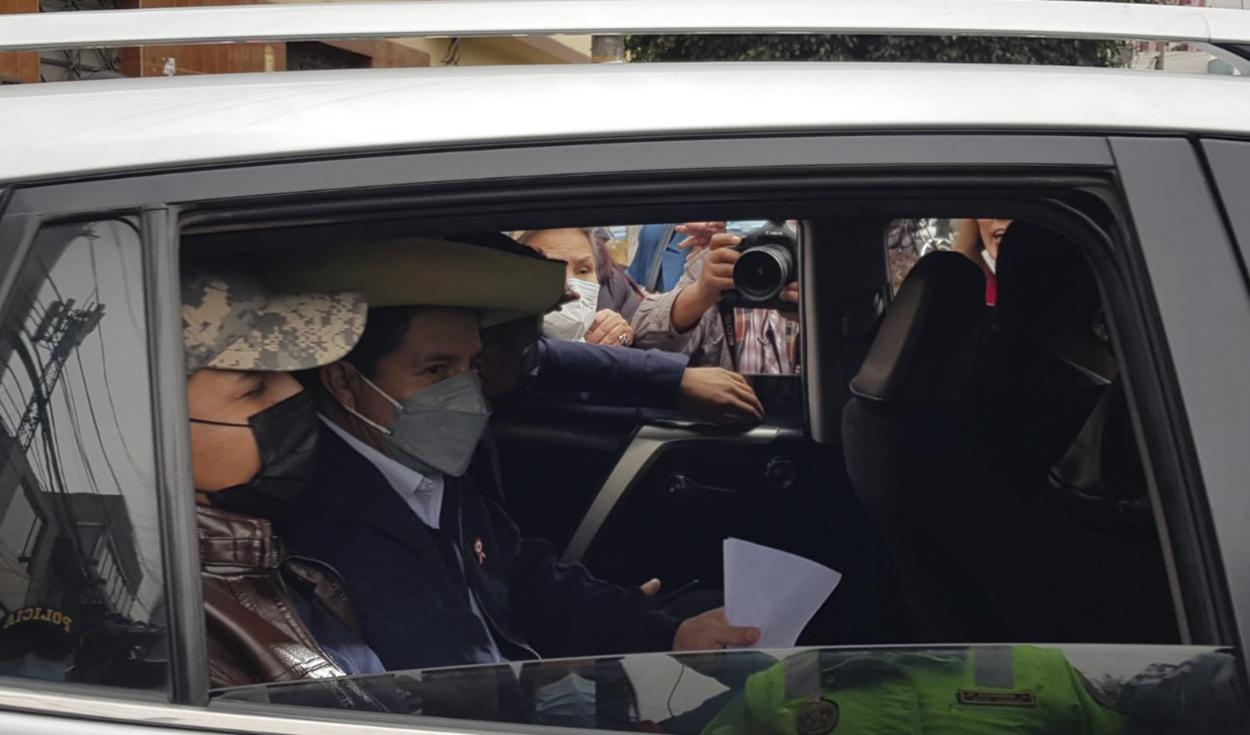 Llegada de Pedro Castillo a Palacio de Gobierno. Foto: Jessica Merino / URPI-LR
