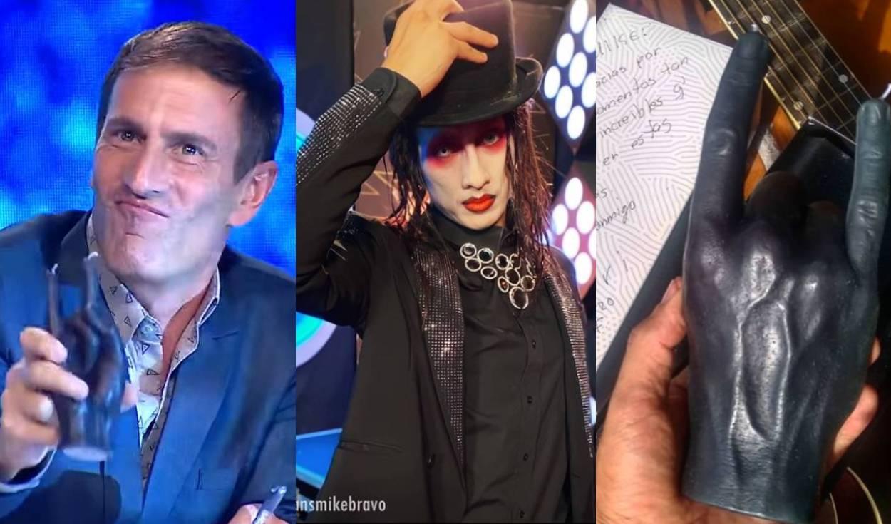"Mauri Stern obsequia 'mano rockera' a Mike Bravo: ""Es un campeón"""
