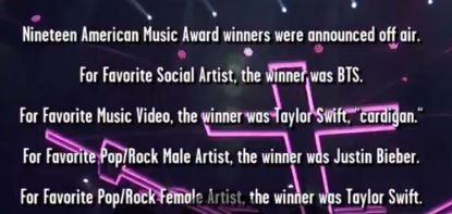 BTS ganó Artist Favorite Social. Foto: captura TNT