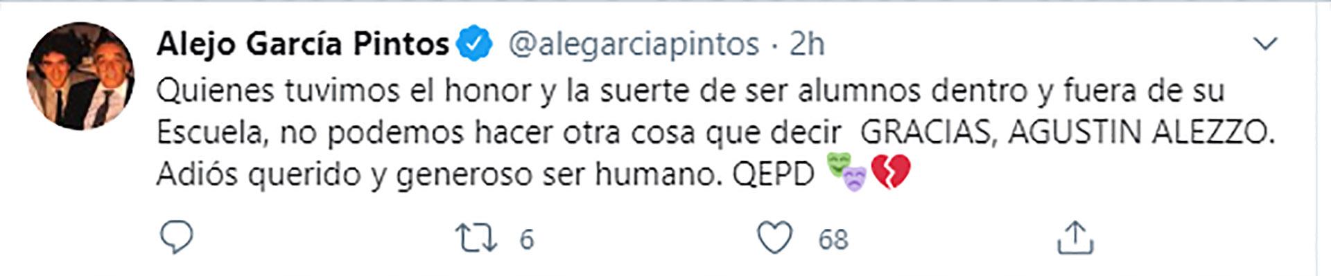 El tuit de Alejo García Pintos