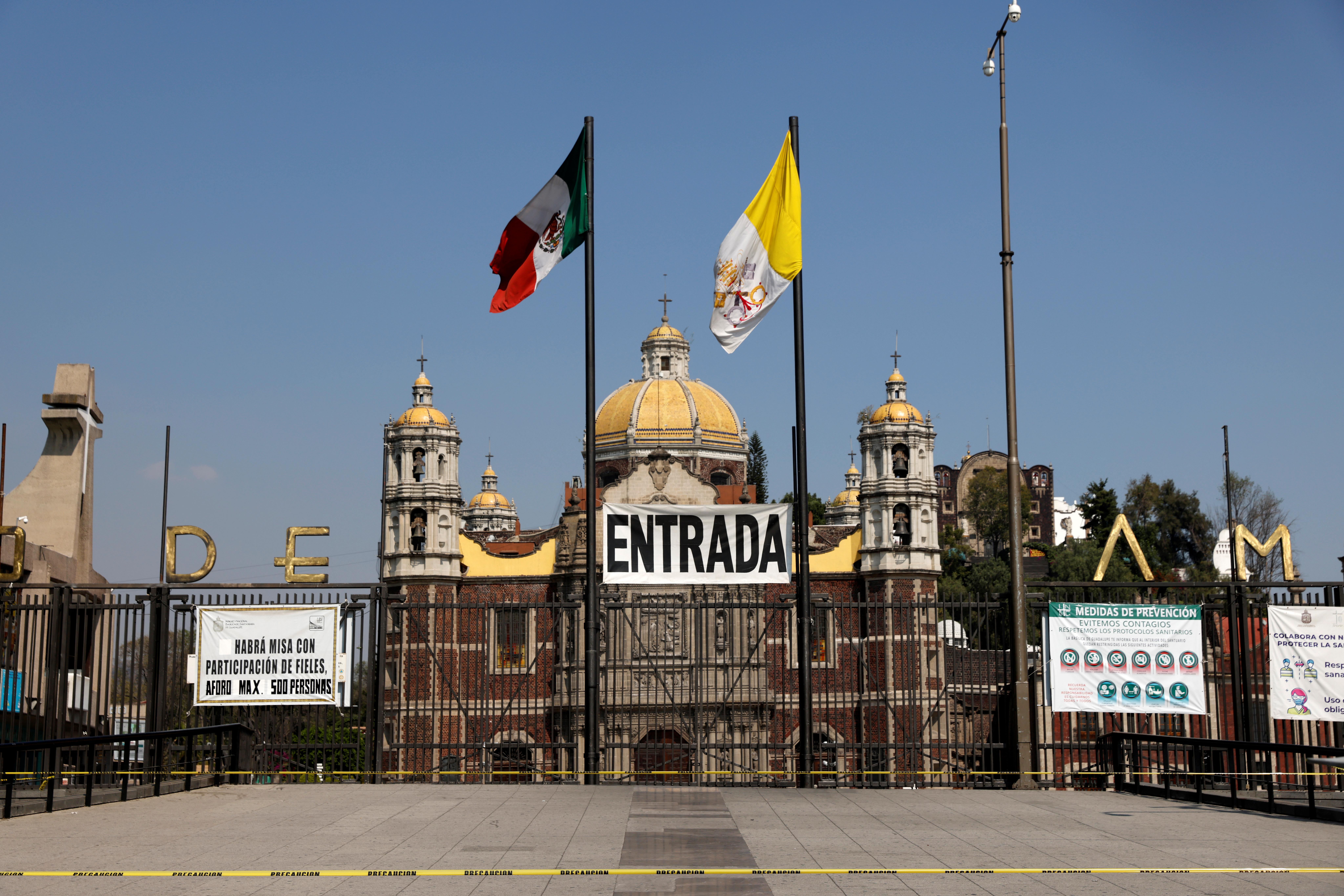 Basílica de Guadalupe, Ciudad de México, 10 de diciembre de 2020.