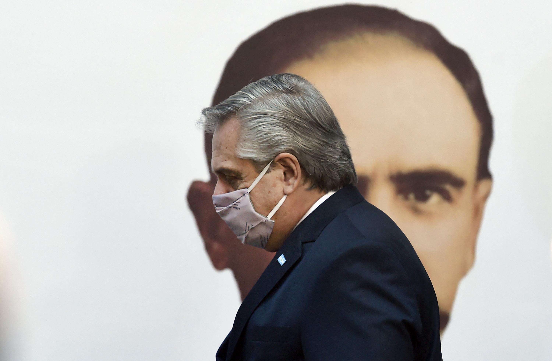 El presidente de Argentina Alberto Fernández.