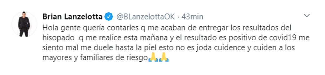 El posteo de Lanzelotta