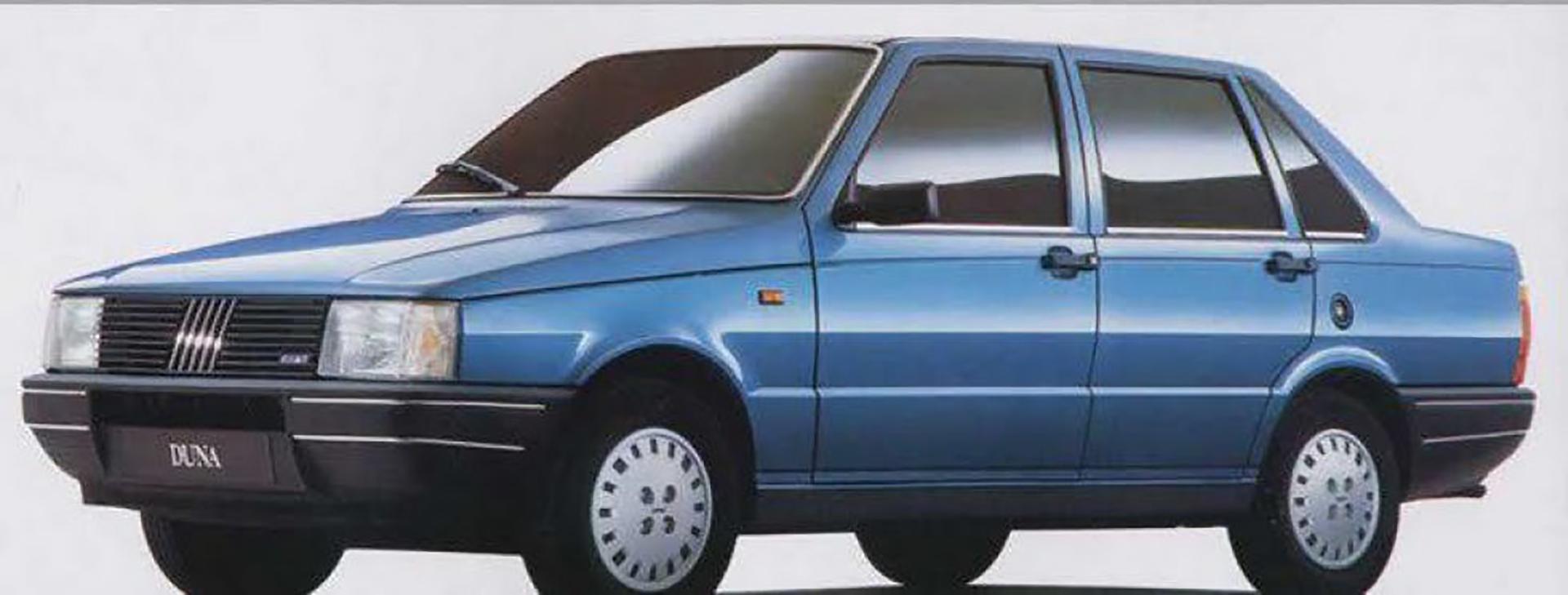 El Fiat Duna, uno de los modelos más fuertes de los 90 en la Argentina, fue diseñado por Giugiaro para el mercado sudamericano.