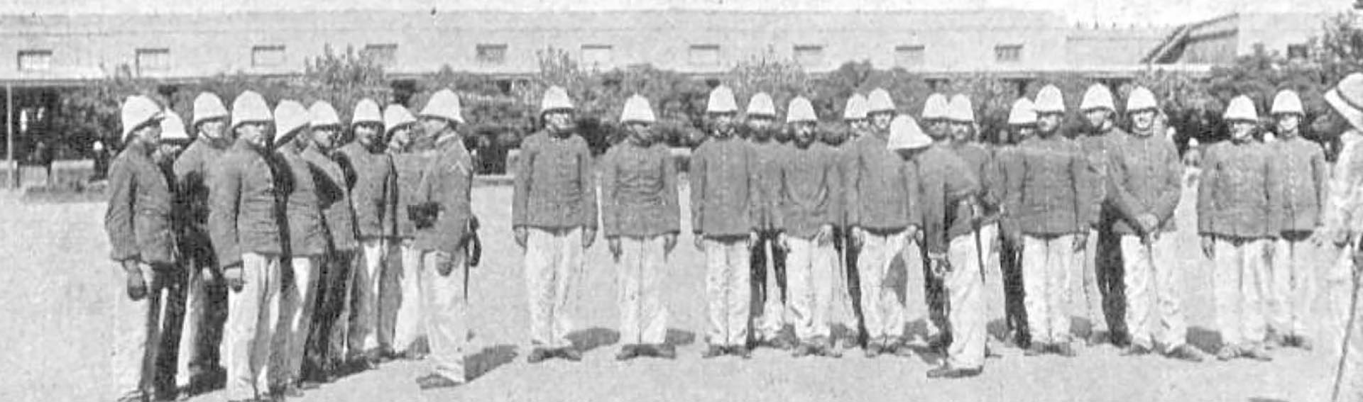 Los primeros conscriptos. Año 1902