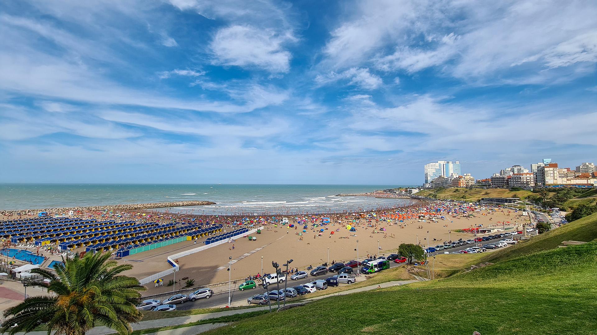 Mar del Plata vivió un fin de semana a pleno sol, con temperaturas que rondaron los 30 grados