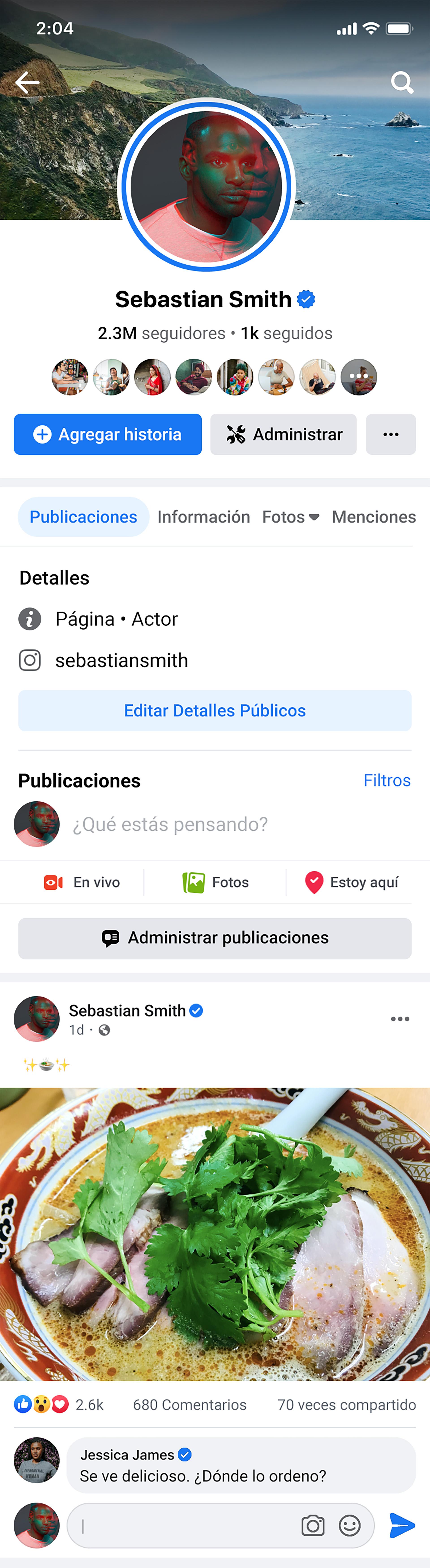 Nueva interfaz y funciones para las Páginas de Facebook en la versión móvil
