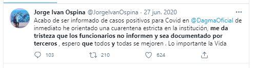 Tomado de: @JorgeIvanOspina