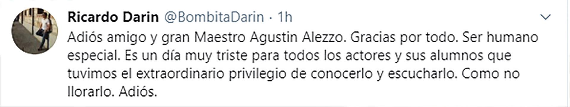 El tuit de Ricardo Darín