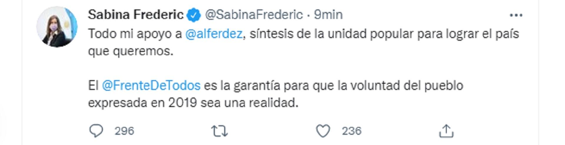 El mensaje de apoyo a Alberto Fernández en medio de la crisis institucional