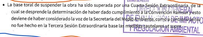"""SEDEMA asegura al Juzgado Quinto que la CNH """"superó"""" la recomendación de detener las obras del puente."""