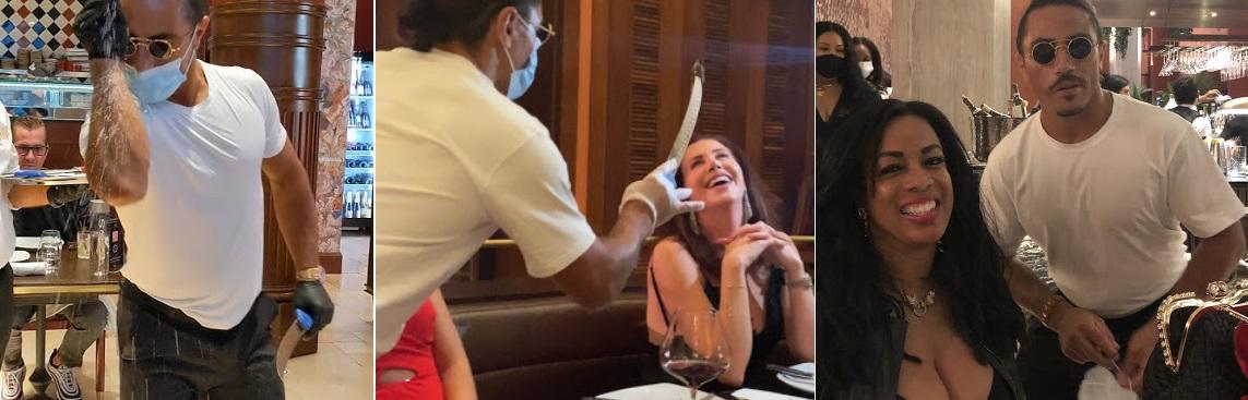 Las fotos de los clientes en Google muestran que no siempre usaba mascarilla cuando se acercaba a saludar