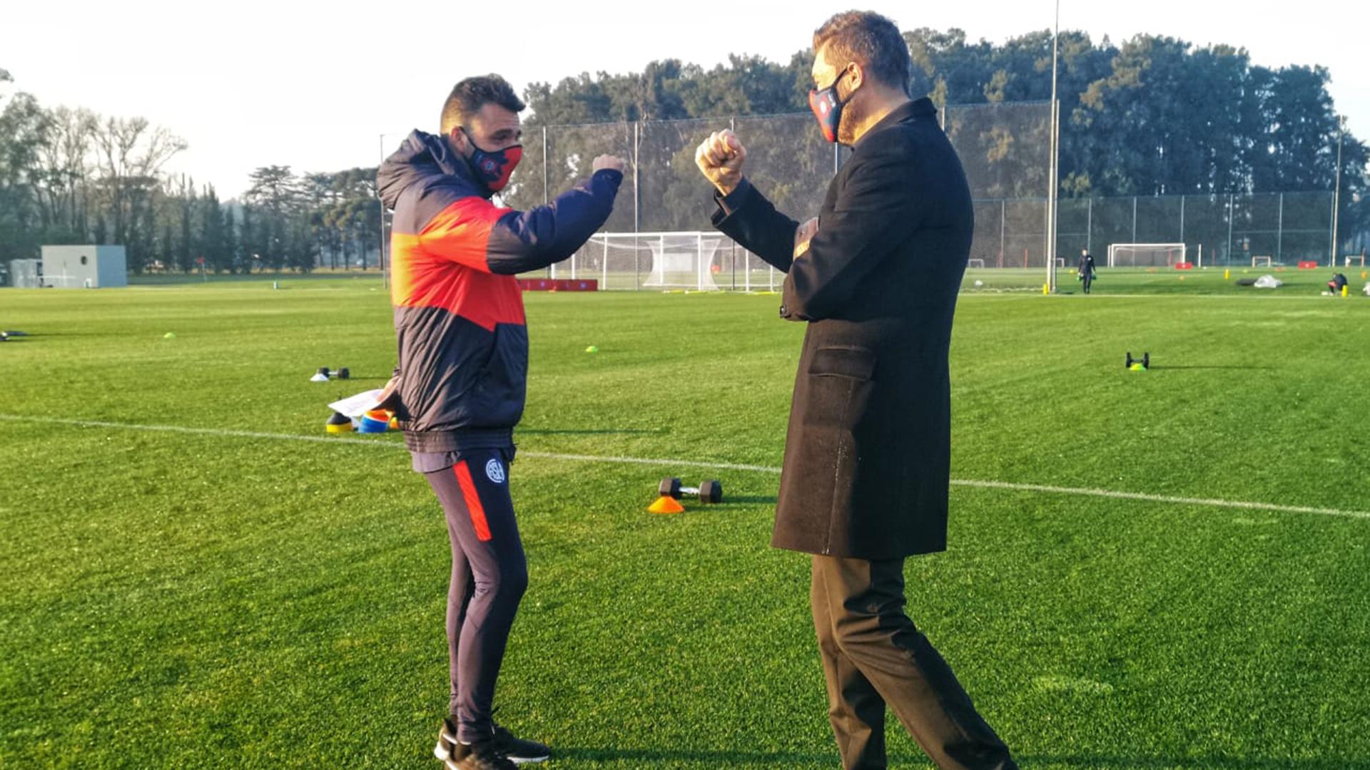 Marcelo Tinelli estuvo presente en la vuelta a los entrenamientos de San Lorenzo