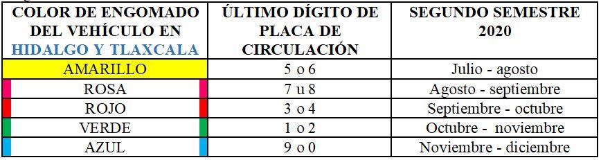 Calendario para Hidalgo y Tlaxcala (Captura de pantalla: CAMe)