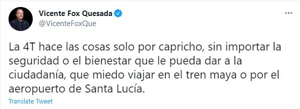 (Foto: Captura de pantalla / Twitter @VicenteFoxQue)